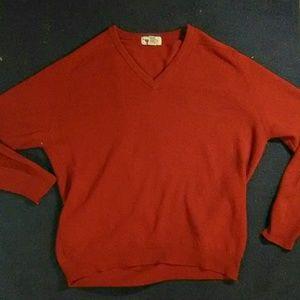 Men's L L Bean sweater Lamb's wool, Made Scotland